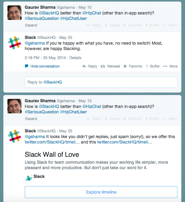 Slack Replies